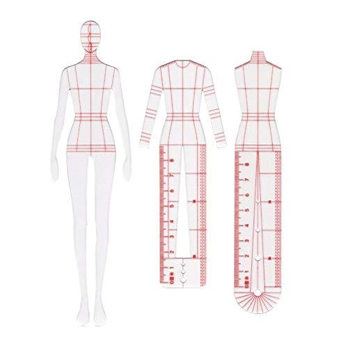 WYGC Regla de Costura Regla de Patchwork Hecha a Mano DIY Curva Francesa Dinámica Humana Regla de Plantilla Transparente de Moda Artesanía de Medición de Ropa Herramientas de Coser Reglas de Costura