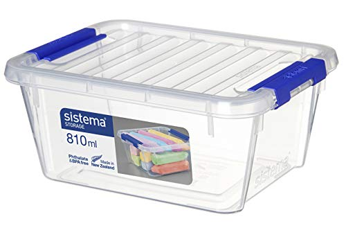 Sistema Storage Contenedor, Polipropileno, Plástico, Transparente, 810 ml