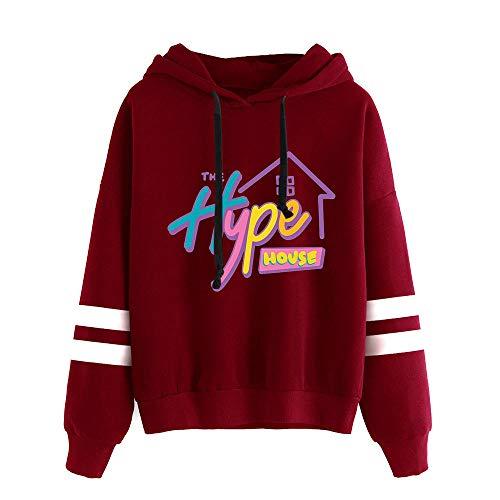 The Hype House Hoodies Femmes/Hommes Imprimer Sweat à Capuche Charli D'Amelio Manches à la Main Addison Rae Sweat Unisexe survêtement