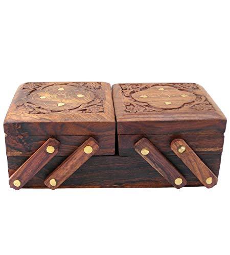 Swara Online Handmade Wooden Jewelry Box/Case/Storage for Women Jewel Organizer Gift Items