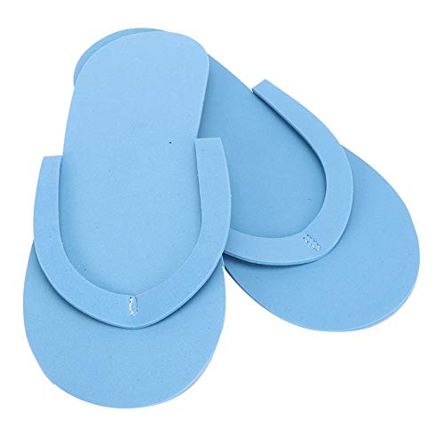 12 Pairs Portable Disposable Slippers, Soft Comfortable Travelling Hotel Flip-Flops, 3mm Thickness Lightweight Disposable Slippers for Spa Pedicure(Blue)