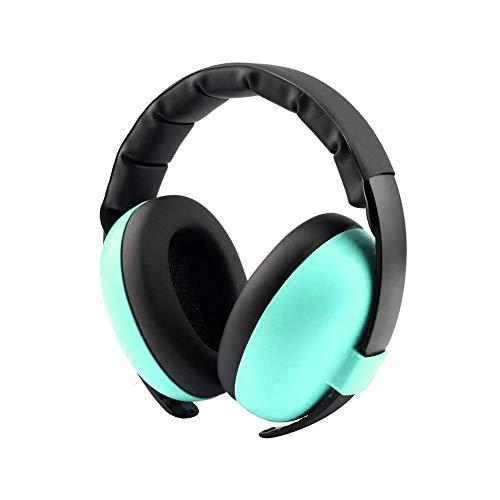 FungLam Orejeras para bebés, Protección auditiva para niños, Protección auditiva Orejeras, Cancelación de Ruido Auriculares con Diadema Ajustable, para 0-3 Años / Bebés / Niños Pequeños (Verde)