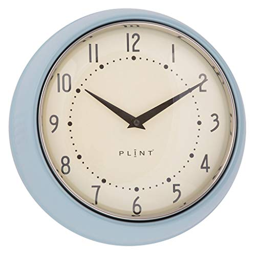 Plint Retro Wanduhr Uhr Küchenuhr Dänisches Design Wall Clock Ice Blue Blau