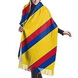 Manta bufanda colorida bandera colombiana chales y envolturas para regalos vestido de noche bufandas