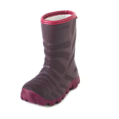 viking Ultra 2.0, Unisex-Kinder Schneestiefel, Pink (Plum/Purple), 33 EU (1 UK)