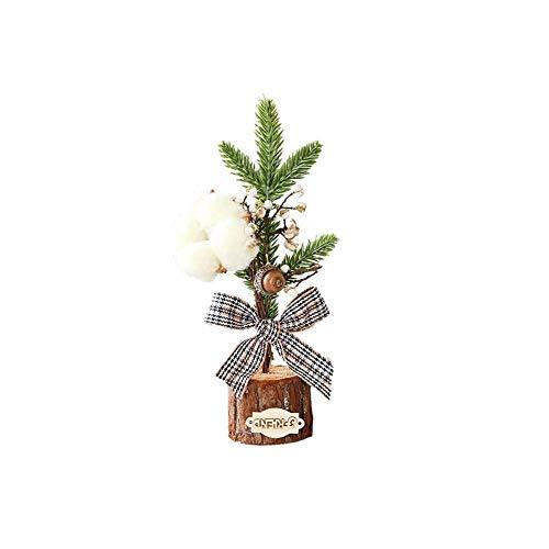 aniceday - Árbol de Navidad mini vivívido en miniatura, árbol de mesa, mini árbol de Navidad con árbol de árbol y adornos colgantes para bricolaje decoraciones de Navidad