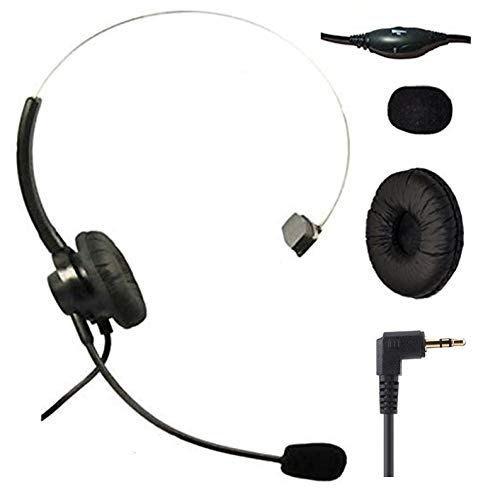 Amazon Com 2 5mm Jack Headset With Microphone Volume Mute Control For Telephone Panasonic Cordless Handset Phone Cisco Spa303 Spa504 Series Polycom Soundpoint Ip Panasonic Kx And More Mono 2 5mm Home Audio Theater