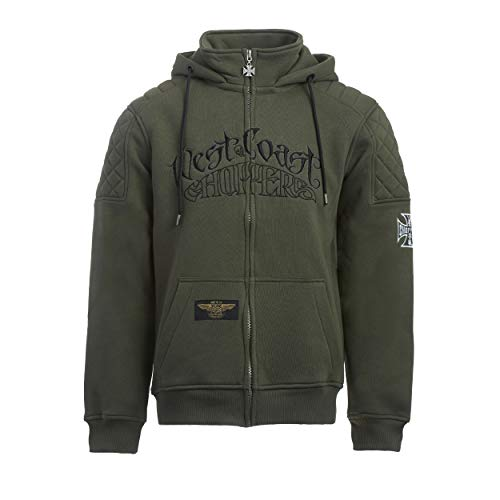 West Coast Choppers WCC Hoodie Choppers por Vida Zip Hoody Green-XL