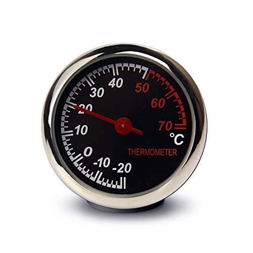 Ryoizen Auto Armaturenbrett Hygrometer Uhr Runde, Aufklebbare Auto-Zubehör-Set, Thermometer, Hygrometer, Auto Dekoration Ornament für Geländewagen