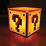 Super Mario Fragezeichen Block Dekolampe mit Sound - Super Mario Bros. Dekolicht Deko Licht Deko...