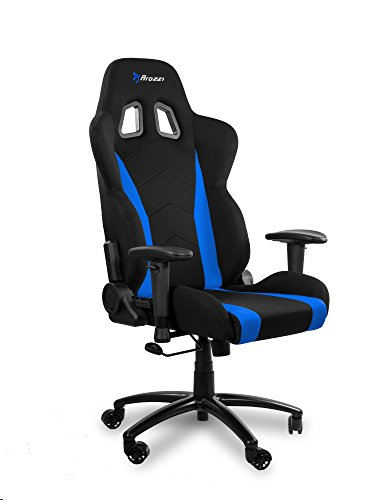 Arozzi Inizio Ergonomic Fabric Gaming Chair with High Back, Rocking & Recline Function - Blue