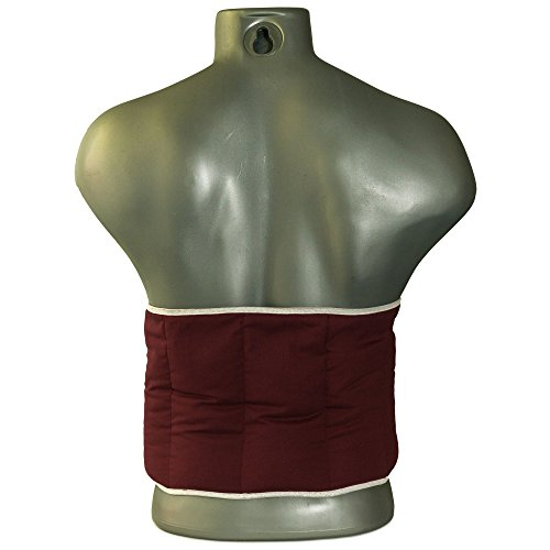 Kirschkernkissen. Gürtel mit Klettverschluss, ca. 135cm, 7-Kammer | Wärmekissen Rücken Wärmegürtel XXL Körnerkissen, weinrot