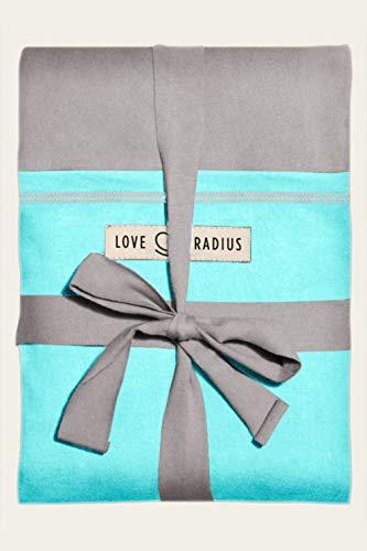Love Radius 'L'Originale JPMBB' - Écharpe de portage - GRIS CLAIR poche Turquoise
