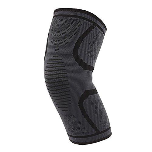 dragonaur 1 x Kompressions-Kniebandage für Fitnessstudio, Sport, warme Stulpe zum Laufen, Schwarz, Größe M