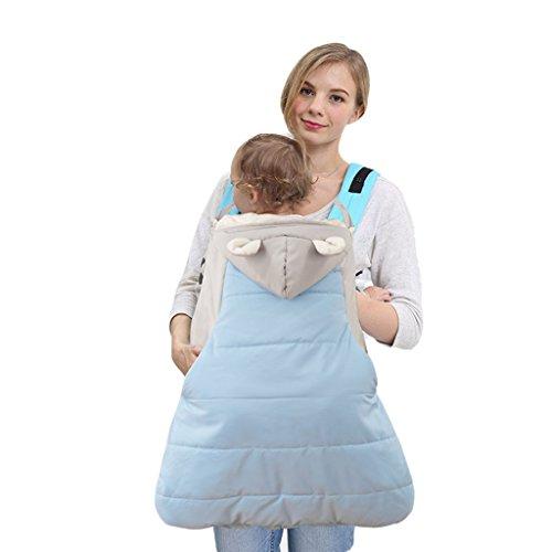 Funda para mochila portabebé A prueba de viento Impermeable Encapuchado Invierno cubierta del portabebés,Azul2