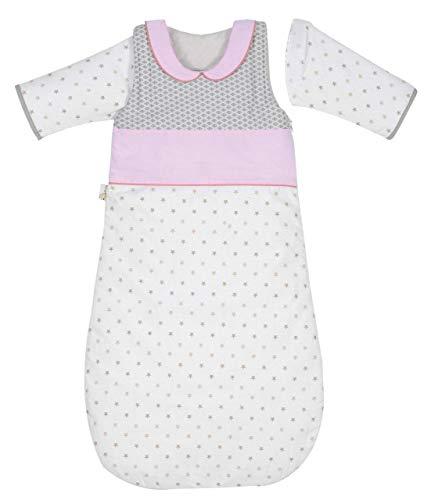 P 'tit Basile - Saco de dormir de invierno para bebé niño, 6-24 meses - 90 cm - con mangas largas extraibles removibles desmontables, algodón orgánico, TOG 2,5 Claudine