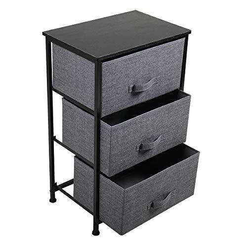 Buy 3Tier Black Dresser Cabinet Storage Shelf Bedroom Organizer Shelve Detachable Fabric Drawer Orga...