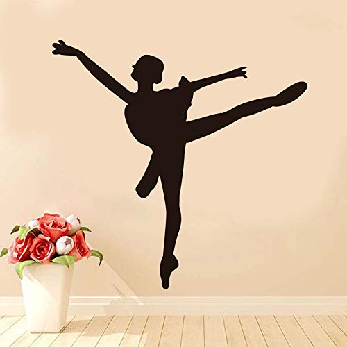 Tianpengyuanshuai Vinyl Wall Wall Decals Ballet Studio Home Decor Studio Dance Wall Sticker Room girl79x77cm