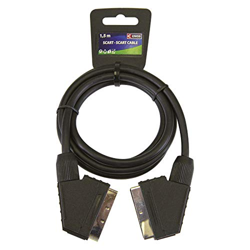 EMOS SL2001 Adapter/AV Scartkabel SCART-Stecker, 1,5m, ECO