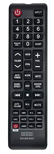 allimity AKB73575421 Ersetzen Fernbedienung passend für LG Sound Bar NB3531 NB2530 NB3530 NB3531 NB4530