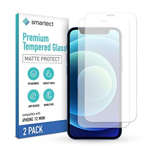 smartect Mattes Schutzglas kompatibel mit Apple iPhone 12 mini [2x MATT] - Tempered Glass mit 9H Härte - Blasenfreie Schutzfolie - Anti-Kratzer Displayschutzfolie