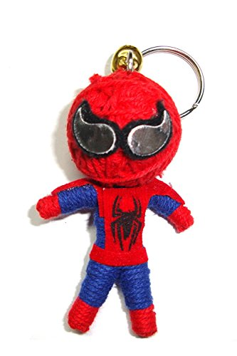 Spiderman Voodoo String Doll Keychain Lucky Charm