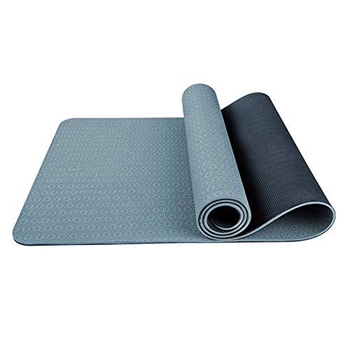 Tappetino per Yoga, tappetino per esercizi TPE Eco Mat Tappetino antiscivolo per Yoga, Palestra, Pilates, Ginnastica e Allenamento a casa 183 cm x 68 cm x 6 mm Home Fitness