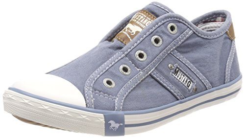 MUSTANG Damen 1099-401-807 Slip On Sneaker, Blau (Himmelblau 807), 39 EU
