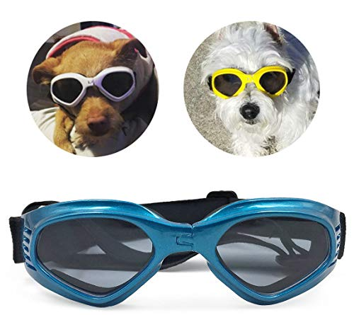PetBoBo Pet Waterproof Windproof Anti-Fog Eye Protection Goggles, Stylish Pet Dog UV Goggles...