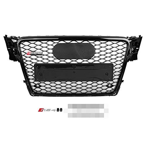 Suuonee honingraatgrill voor afzuigkap van glanzend nylon RS4 Style Front Sport Mesh zwart voor A4 / S4 B8 09-12
