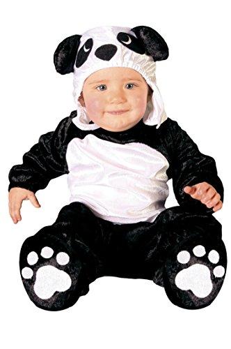 Guirca- Disfraz oso panda baby, Talla 6-12 Meses (82626.0)