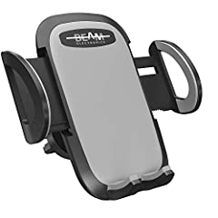 Quick Release Button: Press button on back of unit to slide open and then take out mobile phone. Press the arms on both side to clamp mobile phone again, simple of operation, save time and power. 360 Degree Rotation: The fully 360-degree rotation pro...