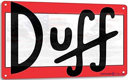 Eletina twinkle Retro Tin Sign Duff Beer Retro Cartoon The Simpson Wall Bar Decor Aluminum Sign 20 x 30 cm / 8 x 12 inches (l x W) Retro look home decor
