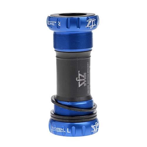 QXYOGO Eje Pedalier Camino de la Bici pedalier Eje de la Rosca de Tipo 68-73mm y bielas de aleación de Aluminio de Bicicletas pedalier con la Junta tórica del Espaciador 05 (Color : Blue)