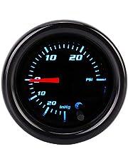 Medidor de presión turbo automotriz, medidor electrónico de presión de aceite electrónico de aluminio de 52 mm de aluminio de 7 colores para modificación de automóviles