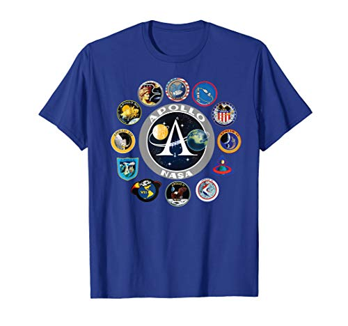NASA Project Apollo Mission Patches T-Shirt