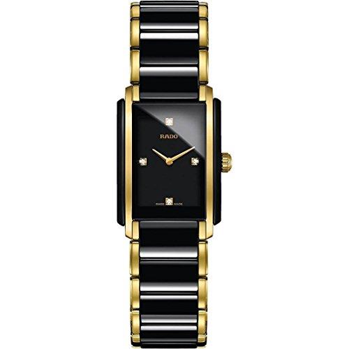 Rado Integral Jubile Two-tone Black Ceramic and Gold Womens Watch - R20845712