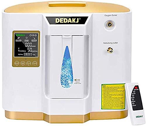 Generador de oxígeno portátil, concentrador de oxígeno pantalla de sincronización LED de 220 V Máquina de oxígeno portátil ajustable 93% de alta...