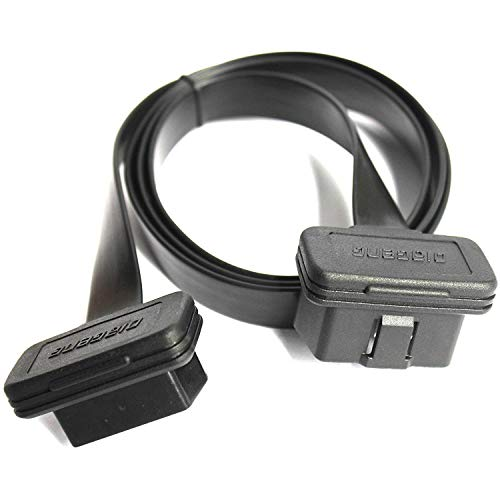 Price comparison product image Diageng Low Profile Right / Left Angle OBDII Extension with Flat Ribbon Cable 3' / 1m