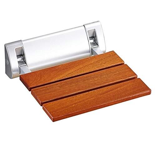 Tbagem-Yjr Handlauf Greifer Schiene Massivholz Klappsitz Dusche Wandhocker Sicherheit Wandstuhl Badezimmer Safety Support (Color : B)