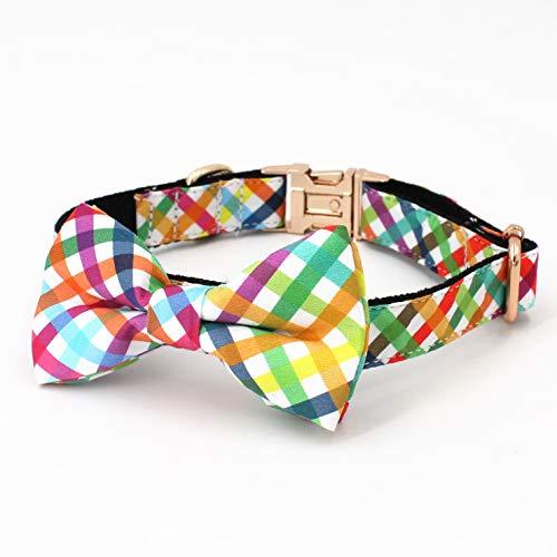 Colourful pet Collar Tartan Dog Bow Collar, Girl Dog Collar – Boy Dog Collar for Puppies