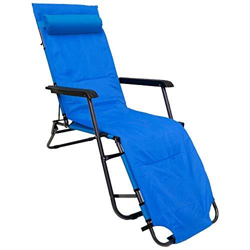 AMANKA Camping Chair 178 x 60 cm Sun Lounger Beach Lounger Folding Lounger