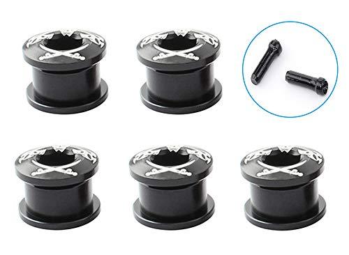 Juego de pernos de plato único para bicicleta Juego de pernos de anillo de cadena de M8x6.5 mm Aleación de aluminio para bicicleta de carretera,bicicleta de montaña,BMX,accesorios de MTB,paquete de 5.
