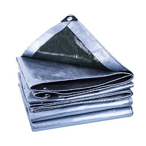 Lonas grises, protección solar a prueba de lluvia, impermeable, 190 g/m² para carpa con toldo de lona al aire libre, bote, jardinería, camping, viajes, 24 tamaños a opción