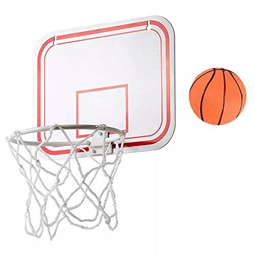 LQKYWNA Mini Basketball Korb Set, Mini Basketballkorb mit Bälle und Pumpe Büro Basketballkorb mit Saugnapf Mini Basketball Brett für Büro, Zimmer, Schlafzimmer, ohne Bohren