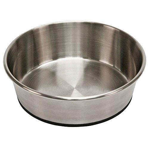 Kerbl Hundenapf Edelstahl, Hundefressnapf Wassernapf, rutschfest, 1600 ml