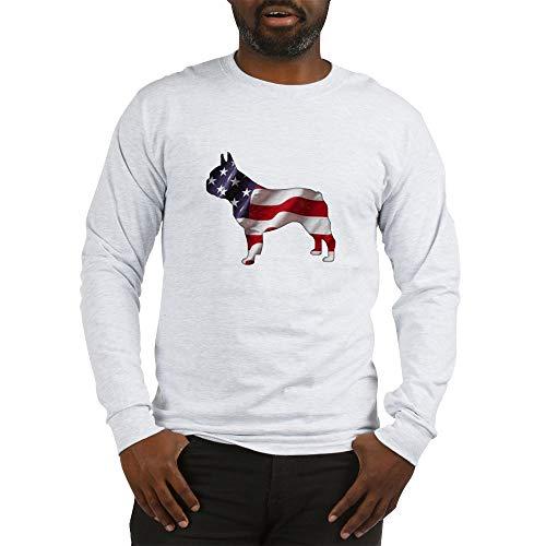 CafePress American Frenchie Long Sleeve T Shirt Unisex Cotton Long Sleeve T-Shirt Ash Gray