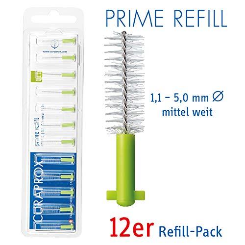 CURAPROX Interdentalbürsten, Größe 1,1mm, 12 Stk, für die Reinigung mittlerer bis weiter Zahnzwischenräume, Zahnreiniger Bürstchen, CPS 011 prime Interdental Bürsten
