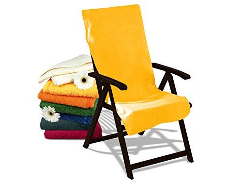 Dyckhoff Schonbezug für Gartenmöbel - mit Kapuze für besten Halt 270.289, Gartenstuhl (60 x 130 cm), gelb