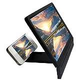 Meetgre Loupe Smartphone Pliable pour Agrandi Compatible avec Tous Les Smartphones, Agrandisseur Ecran Telephone 3D Noir, 8,2 Pouces, 19 x 12,1 x 0,5 CM